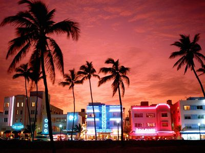 Famous South Beach Art Deco