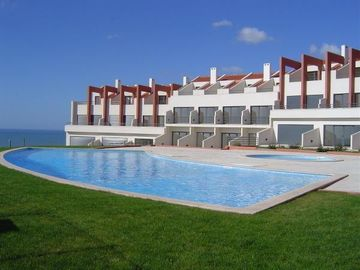 Lourinha area house rental - House next to pool area(Ist white house from left)