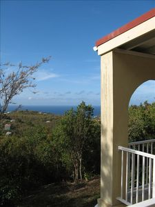 On a clear day you can just see St. Croix from the veranda.