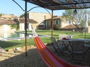 garden, pool, hammock and covered terrace