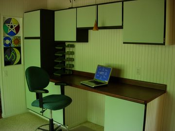 Office Space with all the little daily supplies you may need, plus internet.