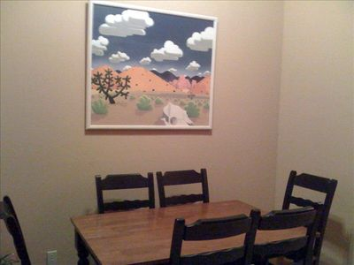 Kitchen Dining Nook Table without leaf seats 6 with leaf seats 8.