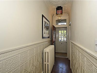 Architectural fine details of this Historic Townhome