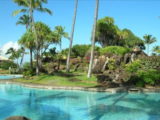 This is the view looking left from your balcony ! - Lihue hotel vacation rental photo