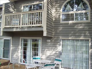 Kingston Plantation condo photo - An upper balcony and lower patio