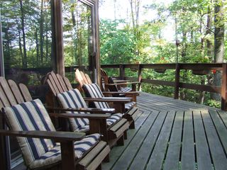 Ithaca lodge photo - Watch the sun rise on the front deck