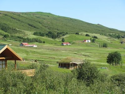 CHARMING 2 UNIT COTTAGE CLOSE TO GEYSIR & GULLFOSS- A PRIVATE PARADISE- HOT TUB