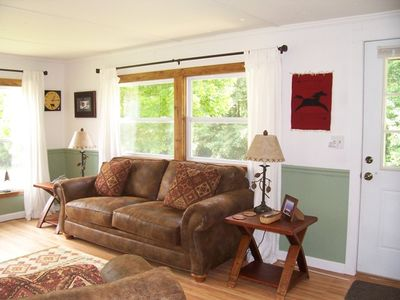 West Jefferson cottage rental - Cozy Living Room, full of sunlight and great views.