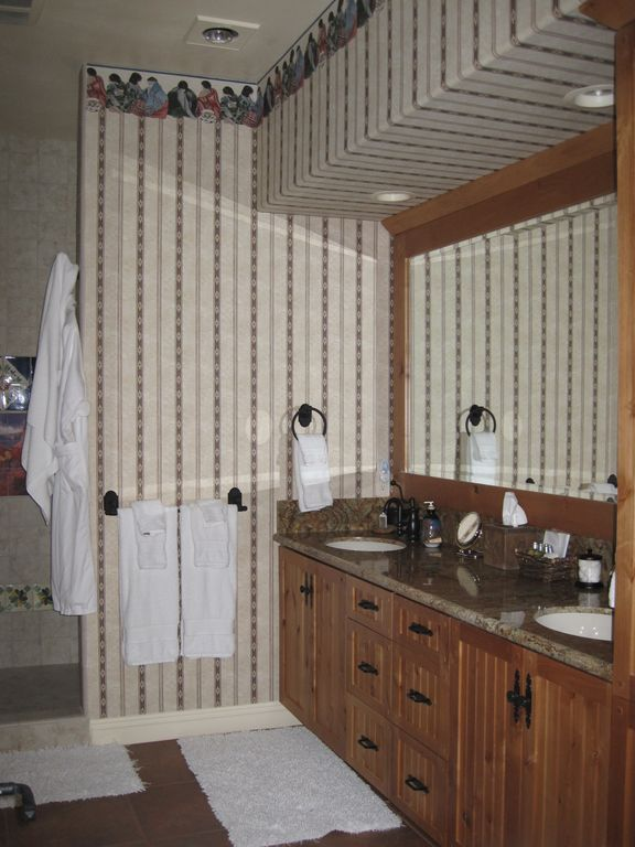 Second Master Suite Bath (walk in closet adjacent), double head walk in shower