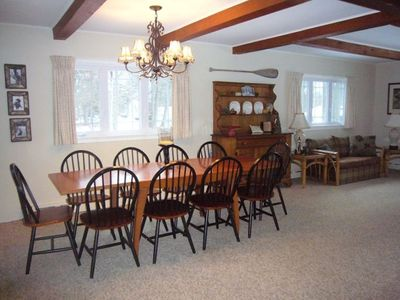 Lake George house rental - Dining area seats 10