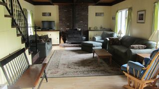 Newfound Lake chalet photo - Open space living room