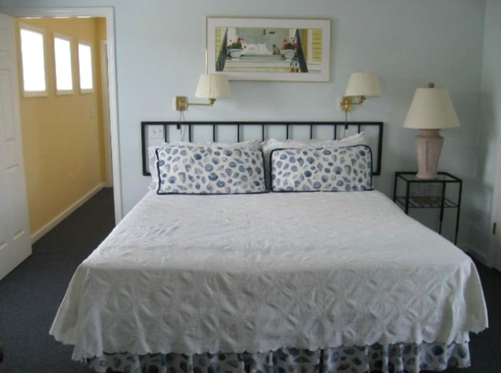 Master Bedroom with private master bath, deck and armoire with TV/ DVD