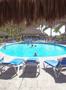 Nuevo Vallarta condo rental - for a cool and refreshing swim, or maybe just read a book under the palapa