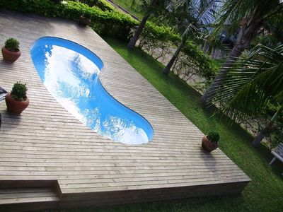 Charming beach house with private pool in residential,