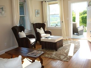 Bridgehampton cottage photo - Bright, comfortable living room with all new furniture and cable tv.