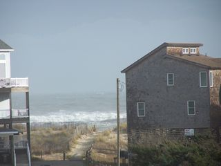 Frisco house photo - Zoom picture from deck 325 yards to the beach!
