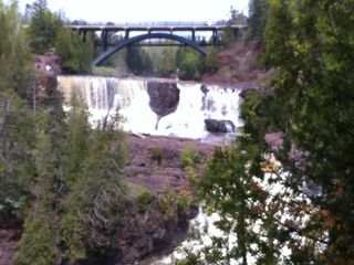 Gooseberry Falls just 2.5 miles south on the walking/biking trail.