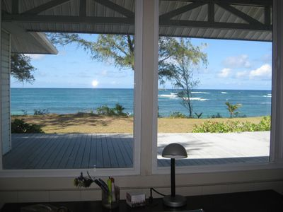 View of ocean from living area