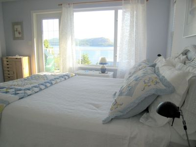 "Wake up to ocean views. Breakfast patio, fireplace. New ""Kingsdown"" bed."