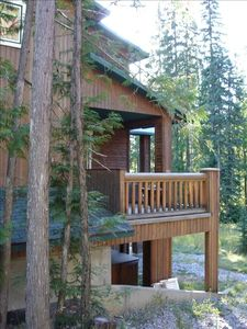 Fernie townhome rental - Double Balcony with Gas BBQ, private Hot Tub below