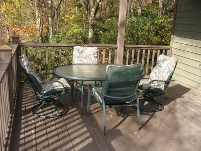 Banner Elk chalet rental - Spacious Deck for outdoor entertaining.