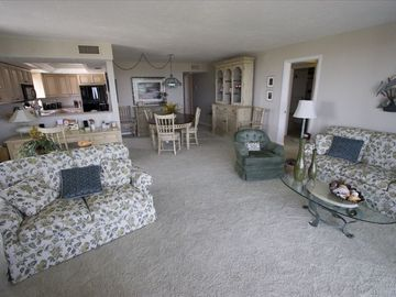 Living room toward dining area