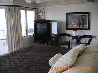 Brigantine townhome photo - Master Bedroom TV with view!