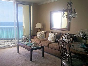 Emerald Beach Resort condo rental - Enjoy the beautiful Gulf of Mexico right from our 15th floor living room