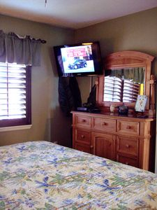 Another view of Master suite with 32' HD flat screen TV