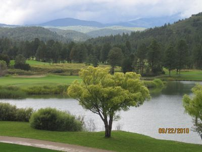 Ruidoso cabin rental - View from the Inn of the Mountain Gods restaurant and casino near downtown