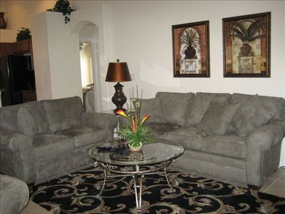Orange Tree villa rental - Family Room - Large HD TV with BluRay DVD