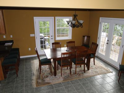 Dining Room with seating for 8 and oriental rug