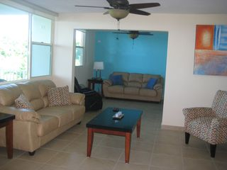 Aguadilla condo photo - Open Living Space (50' Plasma TV, Blue-Ray DVD, and Cable in Family Room)