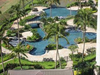 Kapolei condo photo - Swim through the channel between two family pools.