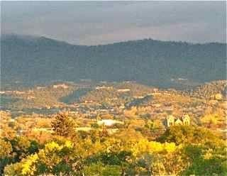View of City, Cathedral and Santa Fe Mts., fall
