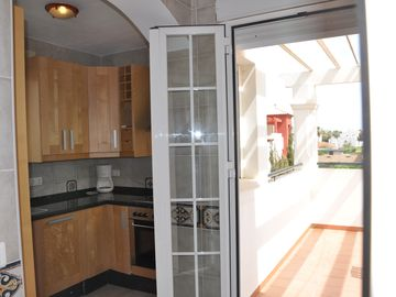 Upstairs Kitchen, Access Dining Terrace, Sea View