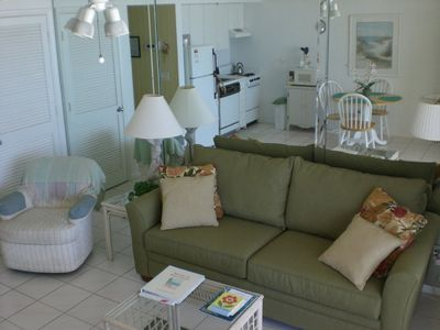 Apollo condo rental - Relax in our comfortable new sofa