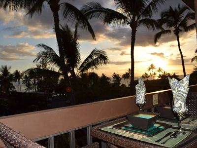 Enjoy ocean views & Maui's famous sunsets from your lanai (deck)