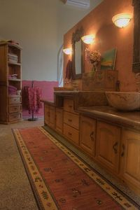 Sunset suite master bath with dual vanities