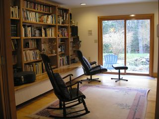 Wiscasset house photo - 1st floor library & music room