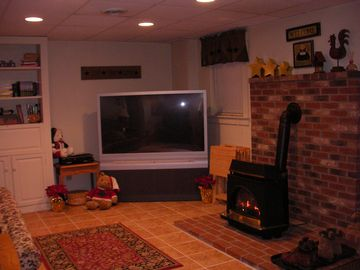 Football games and movies will be great on this huge TV by the cozy fire