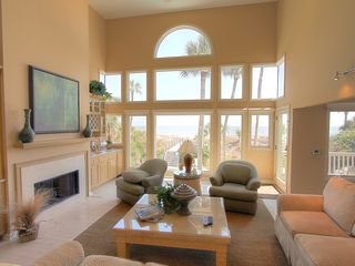Palmetto Dunes house photo - living room and view to ocean