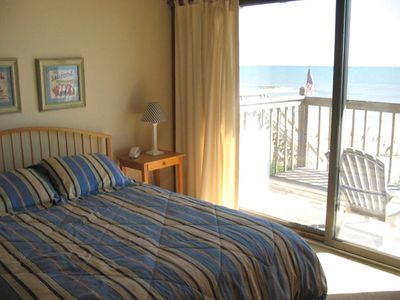 Bedroom 2 has sliding glass door to oceanfront deck