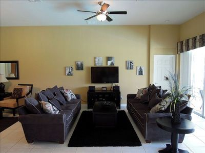 Great room main sitting area with 42 inch HDTV, Sirius stereo, DVD