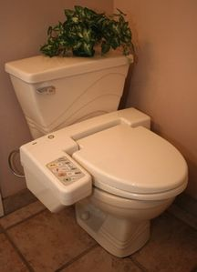 Bidet-style toilet seat will wash and dry you.