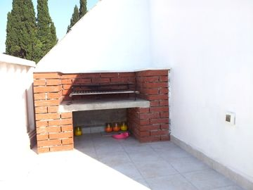 Brick Barbecue on Roof Terrace.Grill meat & dine on terrace with mountain views