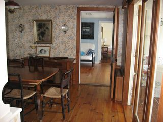 Harwich - Harwichport house photo - Looking thru dining rm to den from living rm. Kitchen to left. Sunroom to right.