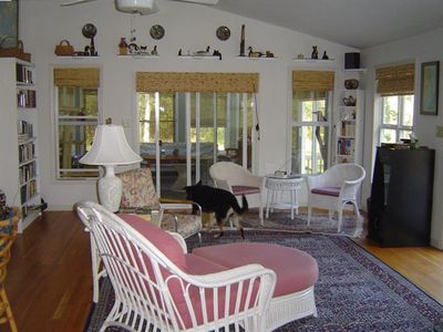 Great Room, with doors into Sunroom