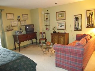 Provincetown townhome photo - Downstairs Bedroom has outdoor patio and seating area