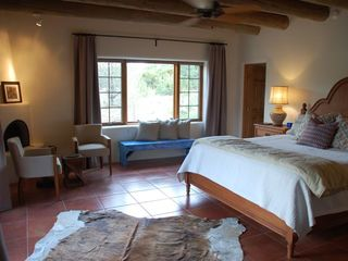 Santa Fe house photo - Master bedroom with extra-long king-size bed, private bath, views.